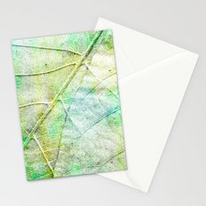 Green Painted Leaf Stationery Cards