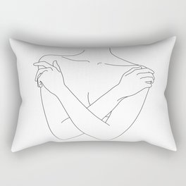 Crossed arms illustration - Joyce Rectangular Pillow