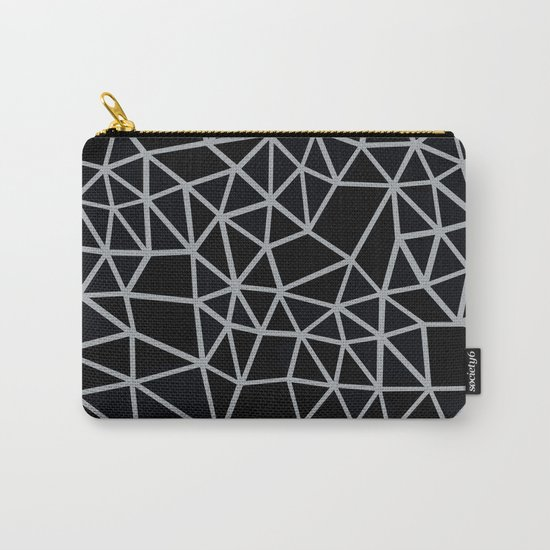 Segment Grey and Black Carry-All Pouch