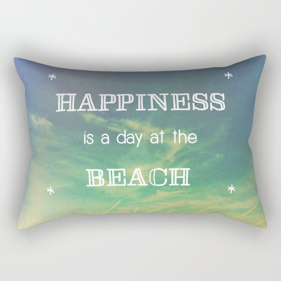 Happiness is a Day at the Beach Rectangular Pillow