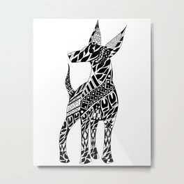Xoloescuincle Ecopet Metal Print