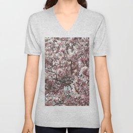 Magnolia Blossoms Unisex V-Neck