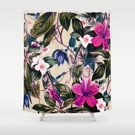 Pattern antique botanical flowers Shower Curtain