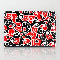maori iPad Cases featuring Maori Kowhaiwhai Patchwork Pattern by mailboxdisco