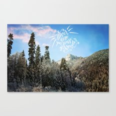 Never lose your sense of wonder-mountains Canvas Print