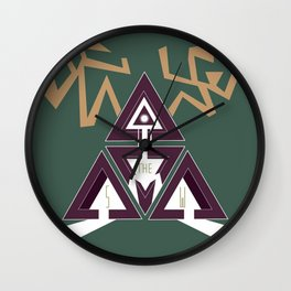 Shelter The Weak Triangles Wall Clock