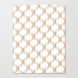 Double Helix - Rose Gold #676 Canvas Print
