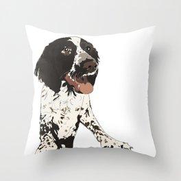 English Springer Spaniel Dog b/w multi Throw Pillow