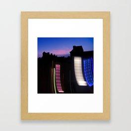 Urban City Lights Framed Art Print
