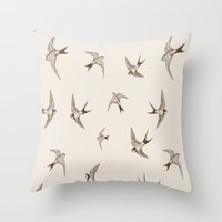 birdy Throw Pillows featuring birdy by LA creation