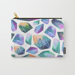 Geometric Crystals Amethyst Geode Pattern 1 Carry-All Pouch