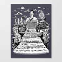 kerouac Canvas Prints featuring on the road - kerouac  by miles to go