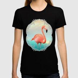 Sunset Flamingo T-shirt
