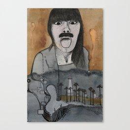 Tongue Out Canvas Print