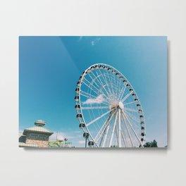 White Wheel Metal Print