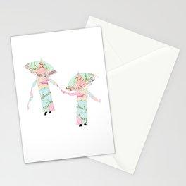 Kimonos, Parasols and Scarves Stationery Cards