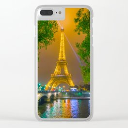 Eiffel Tower Clear iPhone Case