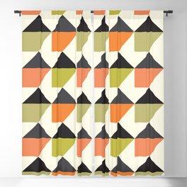 Geometric Pattern 104 (orange pink green Blackout Curtain