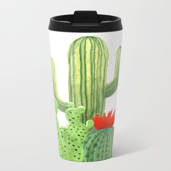 Perfect Cactus Bunch Metal Travel Mug