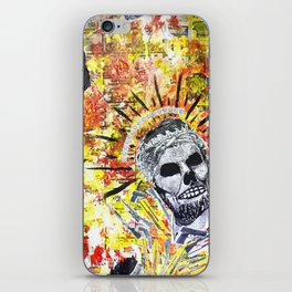 Truth the Fallen King Mixed-Media Collage iPhone Skin