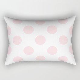 Geometric Orbital Circles In Pale Delicate Summer Fresh Pink & White Rectangular Pillow