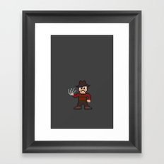 Nightmare on Pixel St. Framed Art Print