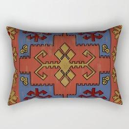 Folk ancient carpet of the Caucasus Rectangular Pillow