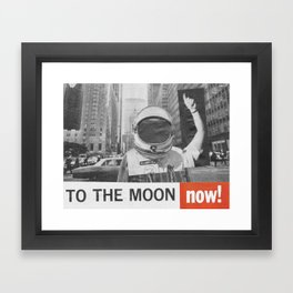 To The Moon Framed Art Print