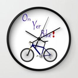 On Yer Bike Wall Clock