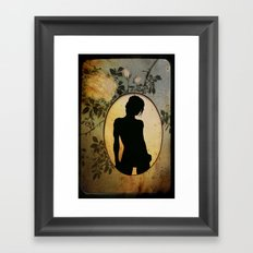 Oval Framed Art Print
