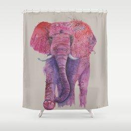 Ink Animals of Africa - Pink Ellie Shower Curtain