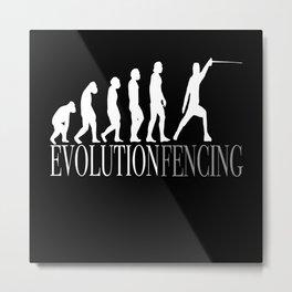Fencing Dagger Fencer Fencing Sport Sport Metal Print