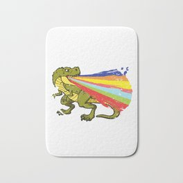 Cool Dinosaur Shooting Rainbow Laser Dino Fan Design Bath Mat