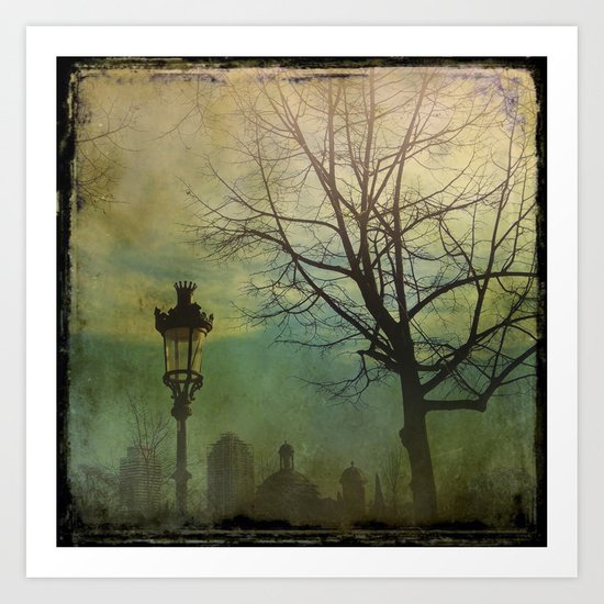 Once pon a time a park in Barcelona Art Print