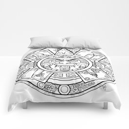 Pencil Wars Shield Comforters