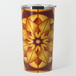 Golden geometric flourish Travel Mug