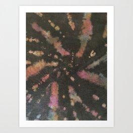Black Bleach Tie Dye Art Print