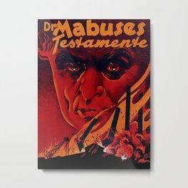 Das Testament des Dr. Mabuse Metal Print
