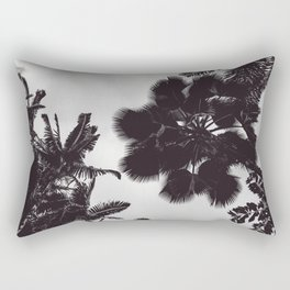Jungle Canopy - Black and White Rectangular Pillow