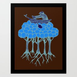 Sailing the High Trees Art Print