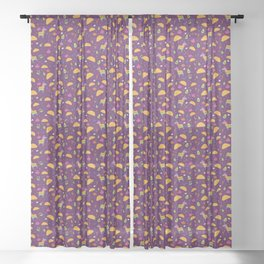 Taco Fiesta in Purple Sheer Curtain