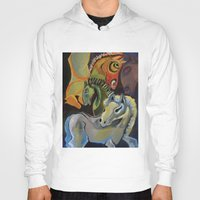 horses Hoodies featuring Horses  by JackieOCreations