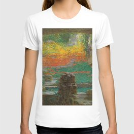 Autumn in the Green Grotto by Karel Vitezslav Masek T-shirt