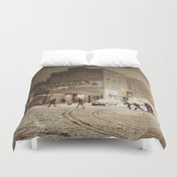 new york city Duvet Covers featuring New York City by Vivienne Gucwa