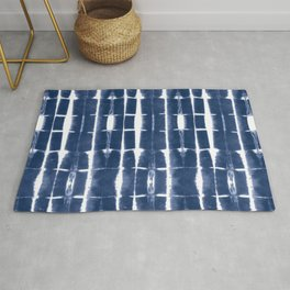 Shibori Stripes 3 Indigo Blue Rug