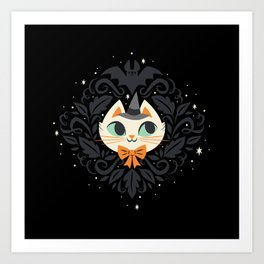Witchy Kitty Art Print