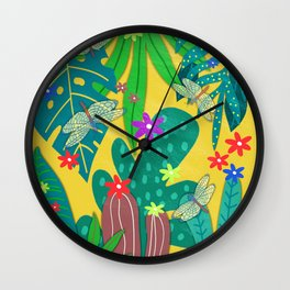 Fantasy Botanical #8 Wall Clock