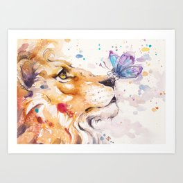 Finn's Lion Art Print