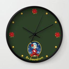 Princess christmas Wall Clock