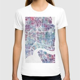 Jacksonville map T-shirt